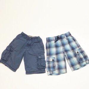 LEVI'S & Gymboree Boy's Cargo Shorts BUNDLE (2)